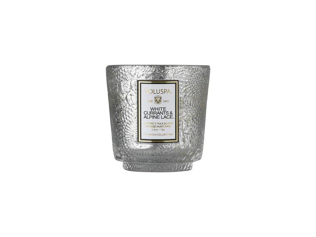 voluspa japonica white currants alpine lace pedestal glass vonna sviecka