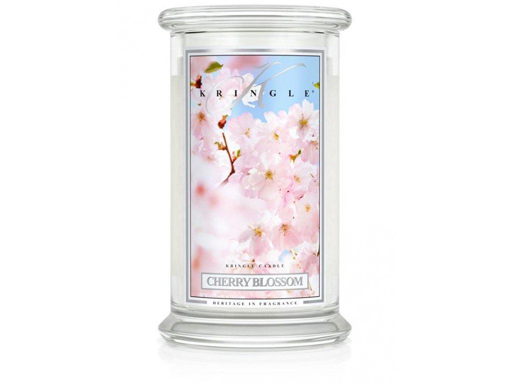 sviečka v skle kringle candle cherry blossom veľká