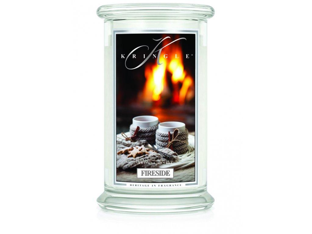 Kringle Candle FIRESIDE vonná sviečka veľká 2-knôtová (624 g)