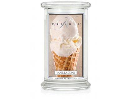 Kringle Candle Vanilla Cone vonná sviečka veľká 2-knôtová (624 g)