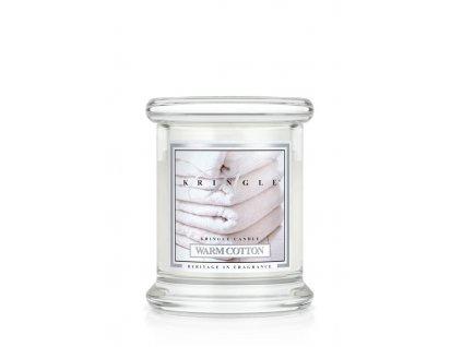 Kringle Candle Warm Cotton vonná sviečka mini 1-knôtová (127 g)