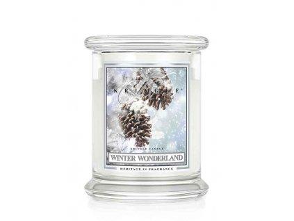 Kringle Candle Winter Wonderland vonná sviečka stredná 2-knôtová (411 g)