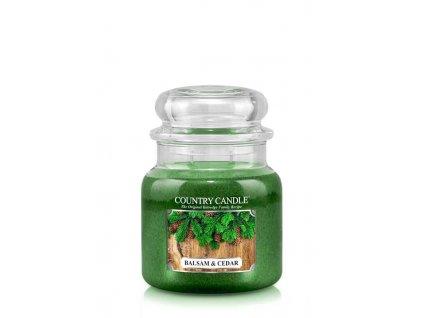 COUNTRY CANDLE Balsam & Cedar vonná sviečka stredná 2-knôtová (453 g)