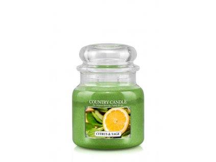 COUNTRY CANDLE Citrus & Sage vonná sviečka stredná 2-knôtová (453 g)