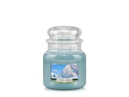 COUNTRY CANDLE Cotton Fresh vonná sviečka stredná 2-knôtová (453 g)