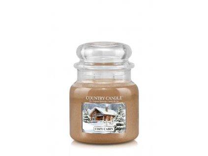 COUNTRY CANDLE Cozy Cabin vonná sviečka stredná 2-knôtová (453 g)
