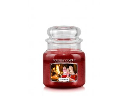COUNTRY CANDLE Fireside vonná sviečka stredná 2-knôtová (453 g)
