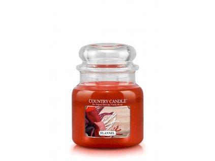 COUNTRY CANDLE Flannel vonná sviečka stredná 2-knôtová (453 g)