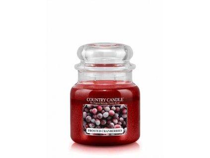 COUNTRY CANDLE Frosted Cranberries vonná sviečka stredná 2-knôtová (453 g)