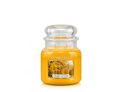 COUNTRY CANDLE Golden Autumn vonná sviečka stredná 2-knôtová (453 g)