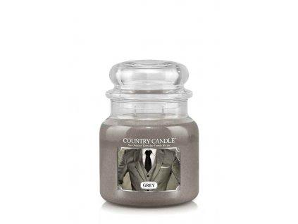 COUNTRY CANDLE Grey vonná sviečka stredná 2-knôtová (453 g)