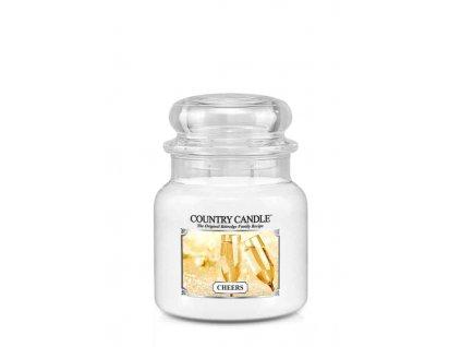 COUNTRY CANDLE Cheers vonná sviečka stredná 2-knôtová (453 g)