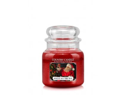 COUNTRY CANDLE Jingle All The Way vonná sviečka stredná 2-knôtová (453 g)