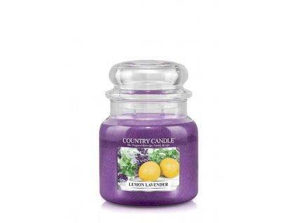 COUNTRY CANDLE Lemon Lavender vonná sviečka stredná 2-knôtová (453 g)
