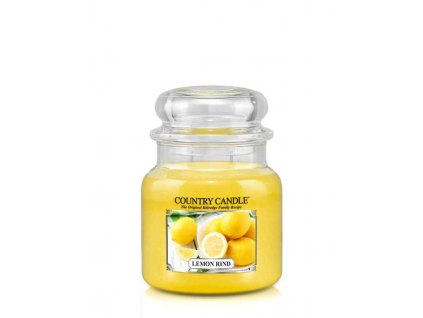COUNTRY CANDLE Lemon Rind vonná sviečka stredná 2-knôtová (453 g)
