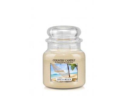 COUNTRY CANDLE Life's A Beach vonná sviečka stredná 2-knôtová (453 g)