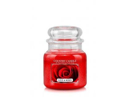 COUNTRY CANDLE Love & Roses vonná sviečka stredná 2-knôtová (453 g)