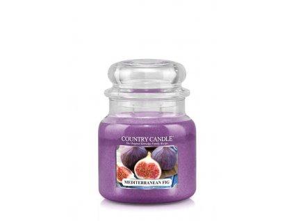 COUNTRY CANDLE Mediterranean Fig vonná sviečka stredná 2-knôtová (453 g)