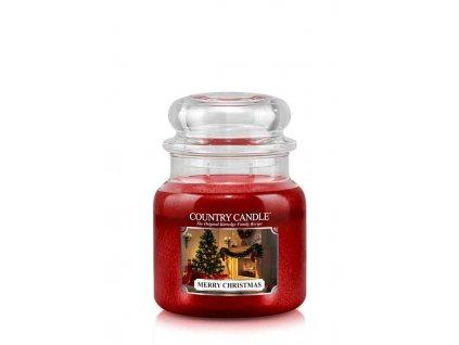 COUNTRY CANDLE Merry Christmas vonná sviečka stredná 2-knôtová (453 g)