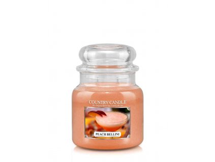 COUNTRY CANDLE Peach Bellini vonná sviečka stredná 2-knôtová (453 g)