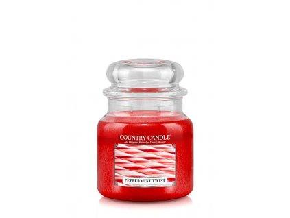 COUNTRY CANDLE Peppermint Twist vonná sviečka stredná 2-knôtová (453 g)