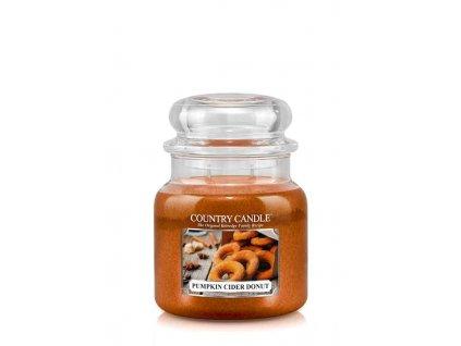 COUNTRY CANDLE Pumpkin Cider Donut vonná sviečka stredná 2-knôtová (453 g)