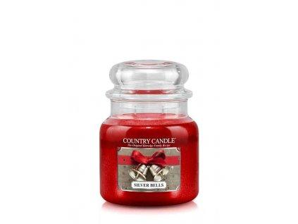 COUNTRY CANDLE Silver Bells vonná sviečka stredná 2-knôtová (453 g)