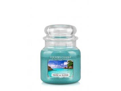 COUNTRY CANDLE Tropical Waters vonná sviečka stredná 2-knôtová (453 g)