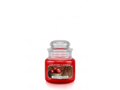 COUNTRY CANDLE Apple & Teakwood vonná sviečka mini 1-knôtová (104 g)