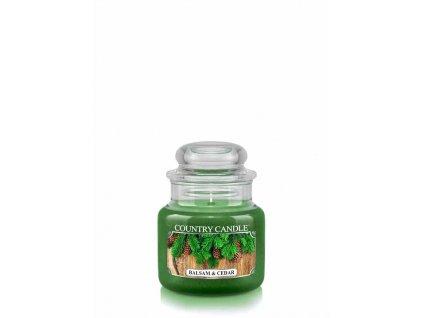 COUNTRY CANDLE Balsam & Cedar vonná sviečka mini 1-knôtová (104 g)
