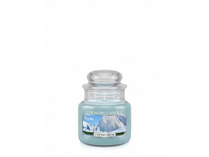 COUNTRY CANDLE Cotton Fresh vonná sviečka mini 1-knôtová (104 g)