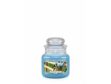 COUNTRY CANDLE Country Love vonná sviečka mini 1-knôtová (104 g)