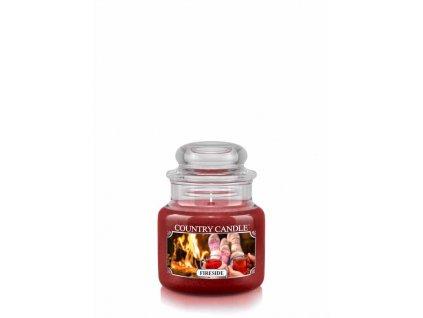 COUNTRY CANDLE Fireside vonná sviečka mini 1-knôtová (104 g)