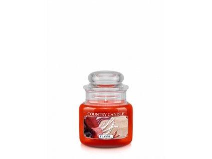 COUNTRY CANDLE Flannel vonná sviečka mini 1-knôtová (104 g)