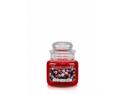 COUNTRY CANDLE Frosted Cranberries vonná sviečka mini 1-knôtová (104 g)