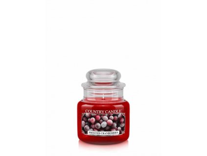 COUNTRY CANDLE Frosted Cranberries vonná sviečka mini 1-knôtová (104 g)