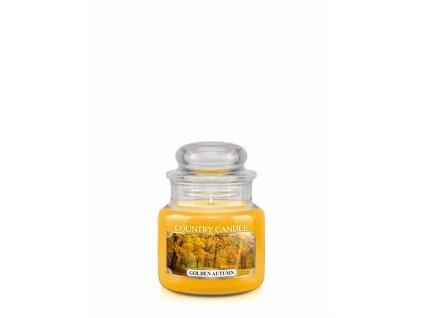 COUNTRY CANDLE Golden Autumn vonná sviečka mini 1-knôtová (104 g)