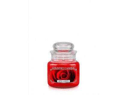 COUNTRY CANDLE Love & Roses vonná sviečka mini 1-knôtová (104 g)