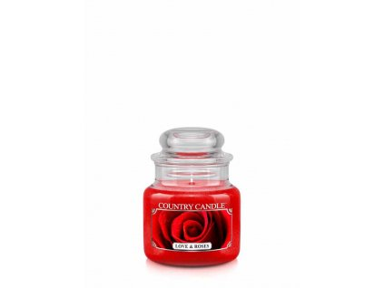 COUNTRY CANDLE Love & Roses vonná sviečka mini 1-knôtová (104 g)