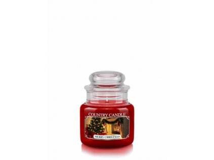COUNTRY CANDLE Merry Christmas vonná sviečka mini 1-knôtová (104 g)