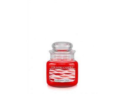 COUNTRY CANDLE Peppermint Twist vonná sviečka mini 1-knôtová (104 g)