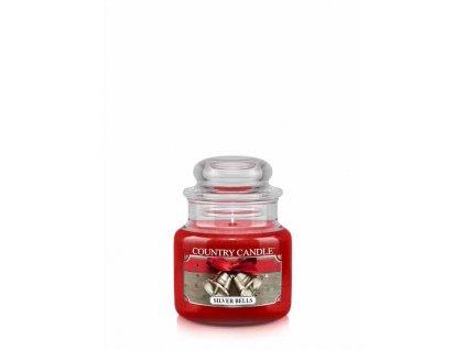 COUNTRY CANDLE Silver Bells vonná sviečka mini 1-knôtová (104 g)