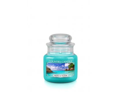 COUNTRY CANDLE Tropical Waters vonná sviečka mini 1-knôtová (104 g)