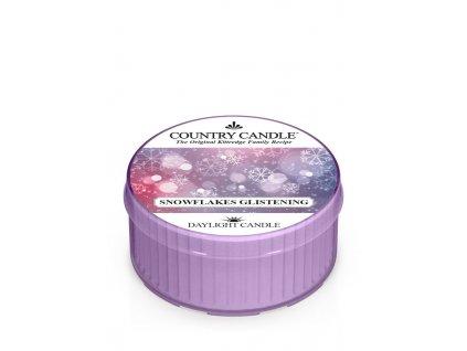 COUNTRY CANDLE Snowflakes Glistening vonná sviečka (35 g)
