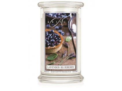 Kringle Candle Lavender Blueberry vonná sviečka veľká 2-knôtová (624 g)