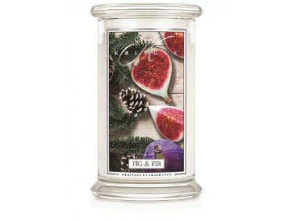 Kringle Candle Fig & Fir vonná sviečka veľká 2-knôtová (624 g)
