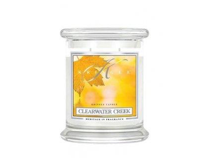 Kringle Candle Clearwater Creek vonná sviečka stredná 2-knôtová (411 g)