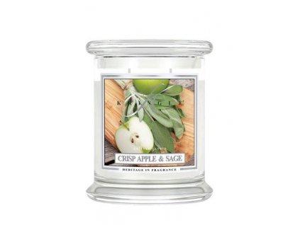 Kringle Candle Crisp Apple & Sage vonná sviečka stredná 2-knôtová (411 g)