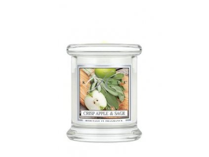 Kringle Candle Crisp Apple & Sage vonná sviečka mini 1-knôtová (127 g)