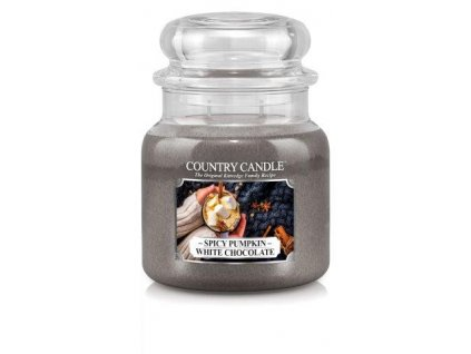 Country Candle medium jar spicy pumpkin white chocolate